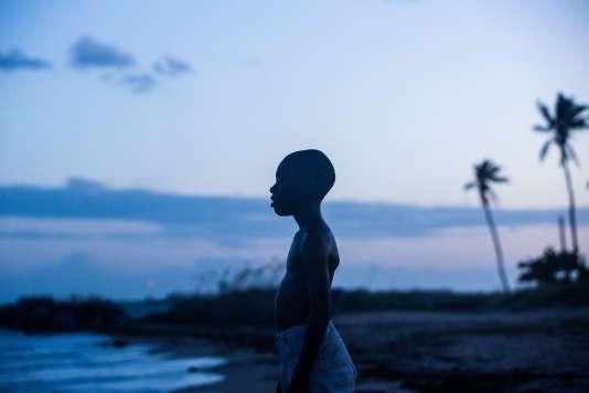 Alex R. Hibbert dans le rôle de Chiron enfant, dans «Moonlight», de Barry Jenkins.
