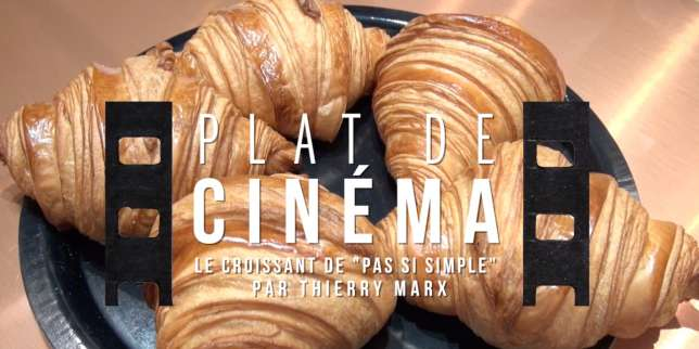 plat de cin ma le croissant du film pas si simple par thierry marx. Black Bedroom Furniture Sets. Home Design Ideas