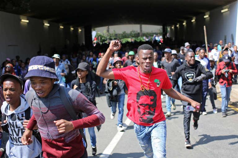 Sur le campus de l'université de Wits, à Johannesburg, le 20 septembre 2016.