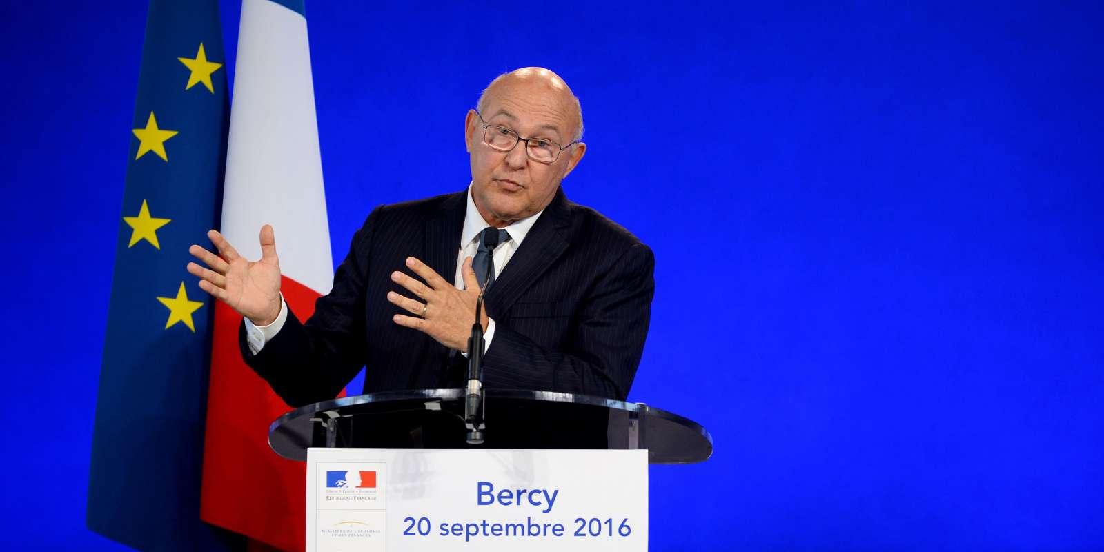 Le ministre de l'économie et des finances Michel Sapin le 20 septembre à Bercy.