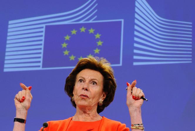 Neelie Kroes, à Bruxelles, en juin 2014, lorsqu'elle était encore commissaire européenne.