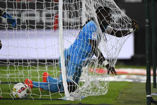 Le joueur de l'OMBafetimbi Gomis, mercredi 21 septembre, au stade Roazhon de Rennes.