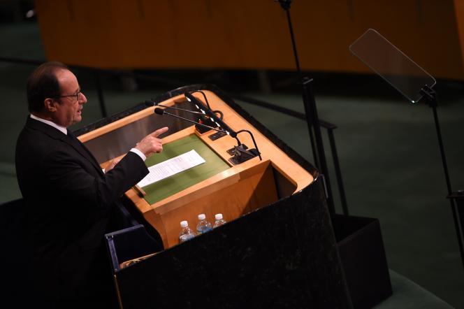 François Hollande à la tribune des Nations unies le 20 septembre 2016.
