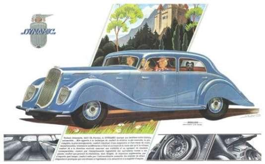 La Panhard Dynamic dans le catalogue du constructeur.