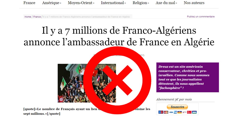 La Fausse Rumeur Des 7 Millions D Algeriens En France