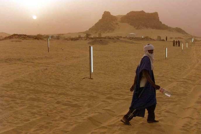 Dans le désert du Ténéré, à Tiguidit, à 80 km d'Agadez.