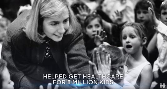 Capture d'écran du clip de campagne «Family Strong».