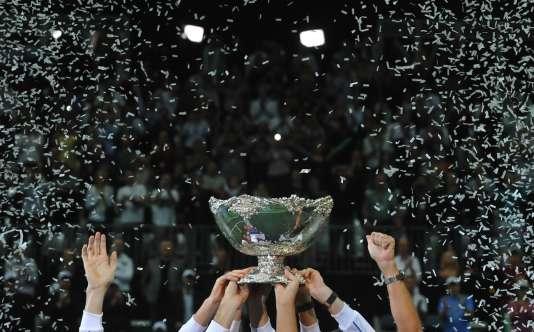 Le saladier d'argent, en 2012, lors de la victoire de la République tchèque en finale de la Coupe Davis.