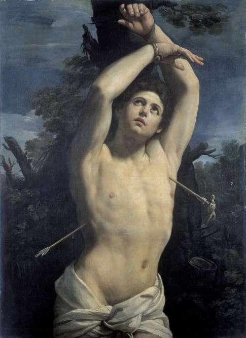 « Placée à l'entrée de l'exposition, placée sur un épi central, cette peinture a fasciné Oscar Wilde qui l'a découverte à Gênes au Palazzo Rosso en 1877. Son souvenir hante l'écrivain au point qu'à la fin de sa vie,il adopte le pseudonyme de Sébastien Melmoth, en référence ultime à ce martyr de la foi chrétienne, devenu rapidement une icône homosexuelle. »