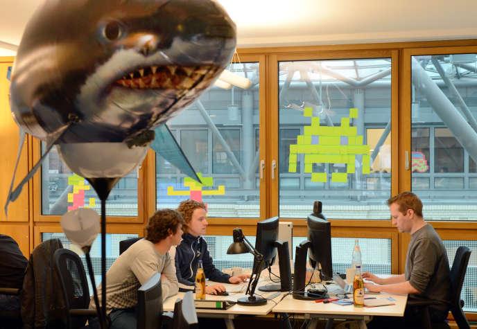 Au siège de Rocket Internet, à Berlin en avril 2012.