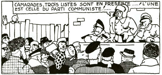 « Tintin au pays des Soviets ».