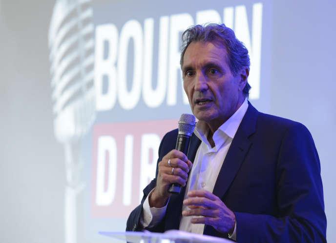 Jean-Jacques Bourdin le 6 septembre à Paris, lors d'une conférence de presse.