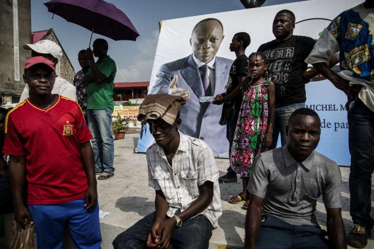 Des partisans de Jean-Marie Michel Mokoko, candidat malheureux à la présidentielle, le 18 mars à Brazzaville.