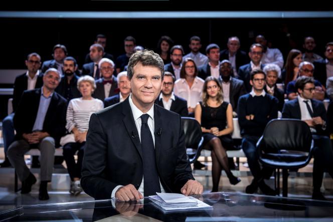 Arnaud Montebourg, candidat à la présidentielle, lors de« L'Emission politique» de France 2, le 22 septembre.
