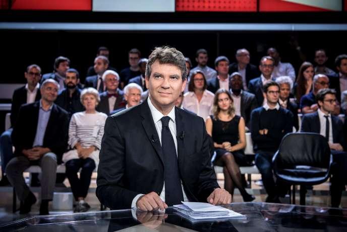 Arnaud Montebourg sur le plateau de« L'Emission politique», le 22 septembre.