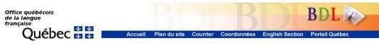 Site de la Banque de dépannage linguistique.