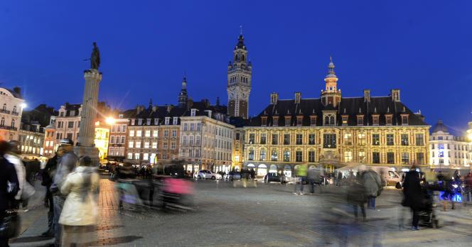 La Grand-Place de Lille, le 8 novembre 2014.
