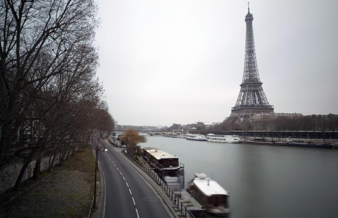 Une vue de la voie Georges-Pompidou, le 27 septembre 2015.