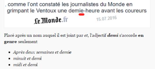 Le site Je révise mon français trouve aussi son inspiration sur Le Monde.fr.