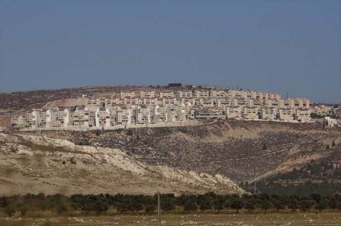 La colonie israélienne de Psagot, près de la ville palestinienne de Ramallah, en septembre 2010.