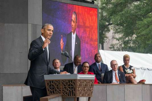 Le président américain Barack Obama à l'inauguration duNational Museum of African American History and Culture, le 24 septembre.