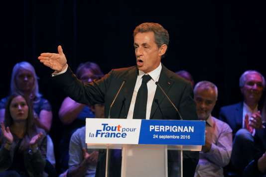 Nicolas Sarkozy à Perpignan le 24 septembre.
