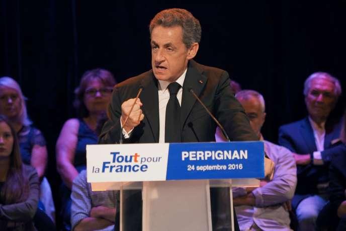 Nicolas Sarkozy, à Perpignan, le 24 septembre.