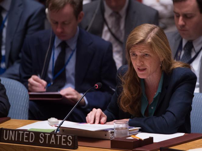 L'ambassadrice des Etats-Unis à l'ONU, Samantha Power, le 25 septembre à New York.