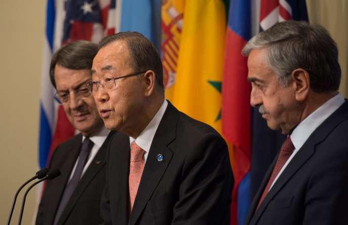 Le président de la République de Chypre, Nicos Anastasiades, et le dirigeant chypriote-turc, Mustafa Akinci, ont été reçus dimanche 25 septembre par le secrétaire général de l'ONU, Ban Ki-moon.