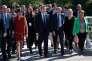 Emmanuel Macron et Gérard Collomb au sommet des réformistes européens, organisé à Lyon, en septembre 2016.
