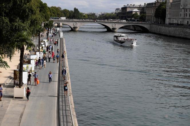 La voie Georges Pompidou rendue piétonne à Paris le 11 septembre 2016.
