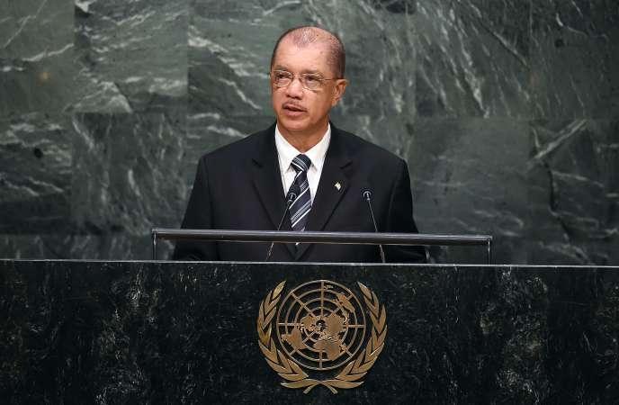 Le président des Seychelles, James Michel, lors de l'Assemblée générale des Nations Unies à New York le 29 septembre 2015.