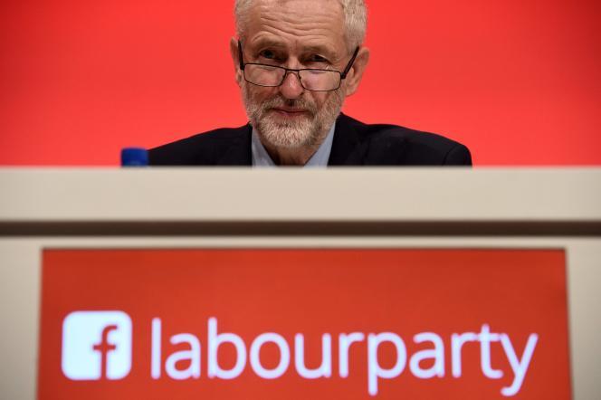 Le chef de l'opposition travailliste,Jeremy Corbyn, au troisième jour du congrès du Labour, le 27 septembre 2016 à Liverpool.