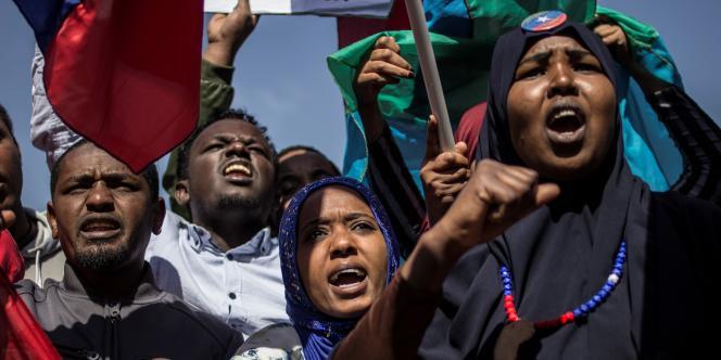 Des Ethiopiens Oromo, Amhara et Ogaden manifestent à Johannesburgcontre la repression menée par Addis-Abeba, en août 2016.