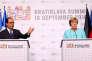 François Hollande et Angela Merkel au sommet de Bratislava, le 16 septembre 2016.