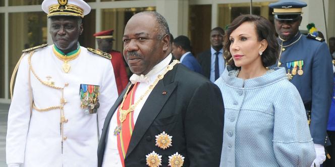 Prestation de serment du président gabonais Ali Bongo Ondimba, le 27 septembre 2016, à Libreville.
