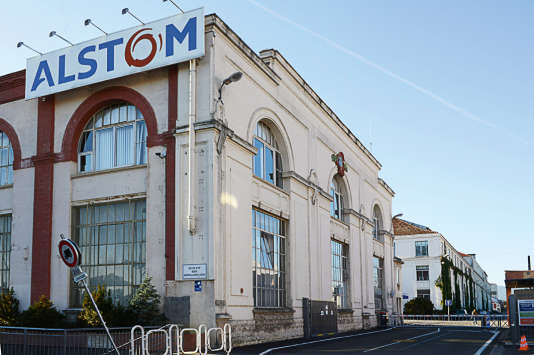 L'entrée de l'usine Alstom de Belfort