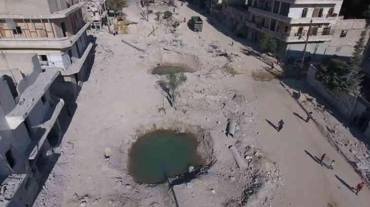 Une photo d'Alep prise par un drone, le 27 septembre.