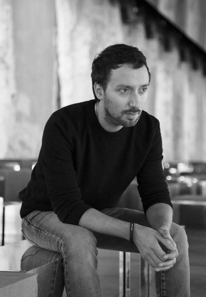 Anthony Vaccarello, en septembre, à Paris.