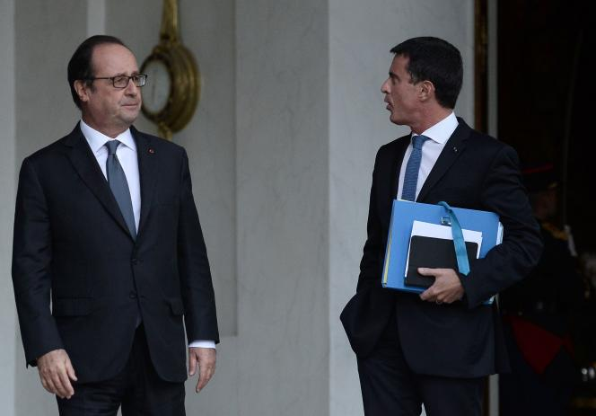 Le CICE est la mesure phare de la politique économique de François Hollande. Ici, avec son premier ministre Manuel Vals.