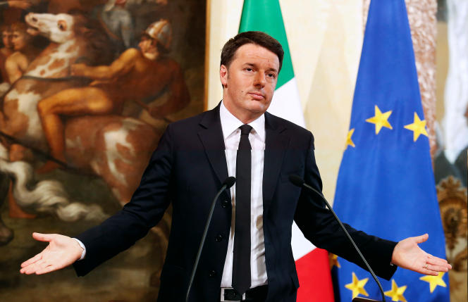 Matteo Renzi à Rome en avril 2016.