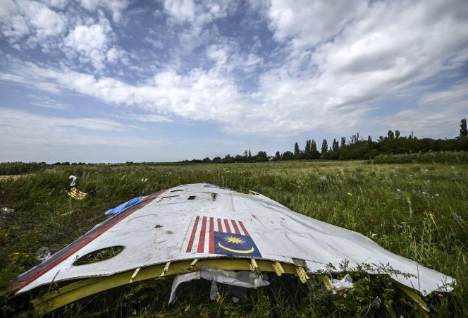 Débris du Boeing 777 après le crash à Grabove (Ukraine), le 20 juillet 2014.