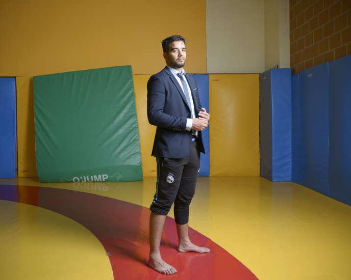 Hassan Briai, du club sportif Parkour59.