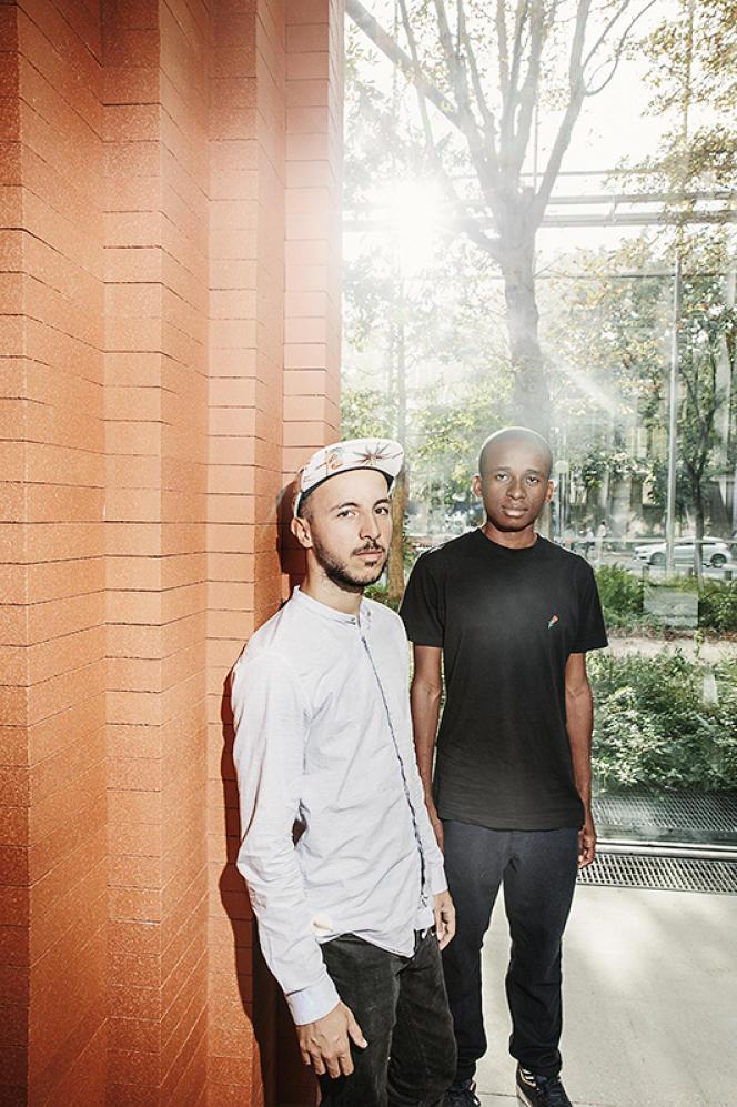 Mehdi et Badrou à la Fondation Cartier le 12 septembre 2016.