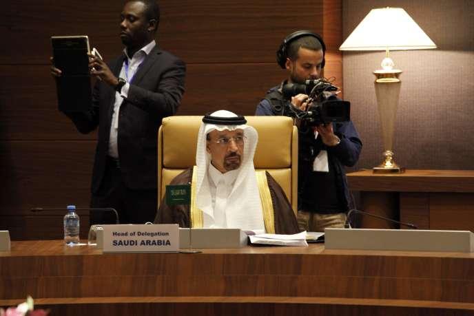 Le ministre de l'énergie saoudien, Khalid Al-Falih, lors de la réunion des membres de l'OPEP à Alger, le 28 septembre.