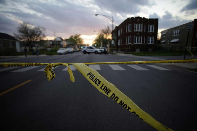Une «scène de crime» à Chicago, en avril.