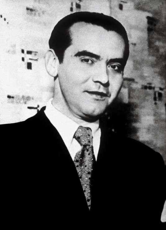 Le poète espagnol Federico García Lorca (1898-1936) en 1934.