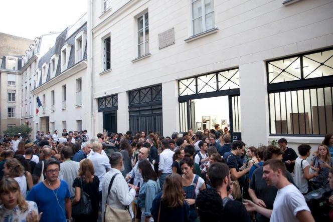 Le soir du vernissage de« Matin, midi et soir» à la galerie RueVisconti, à Paris.
