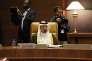 Le ministre saoudien du pétrole, Khalid Al-Falih, lors de la réunion de l'OPEP à Alger, le 28 septembre.