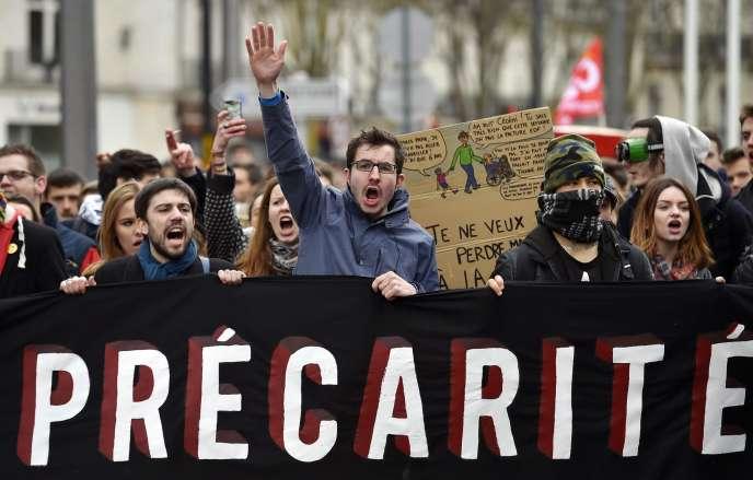 Lors des manifestations contre la loi travail, en mars. AFP / LOIC VENANCE